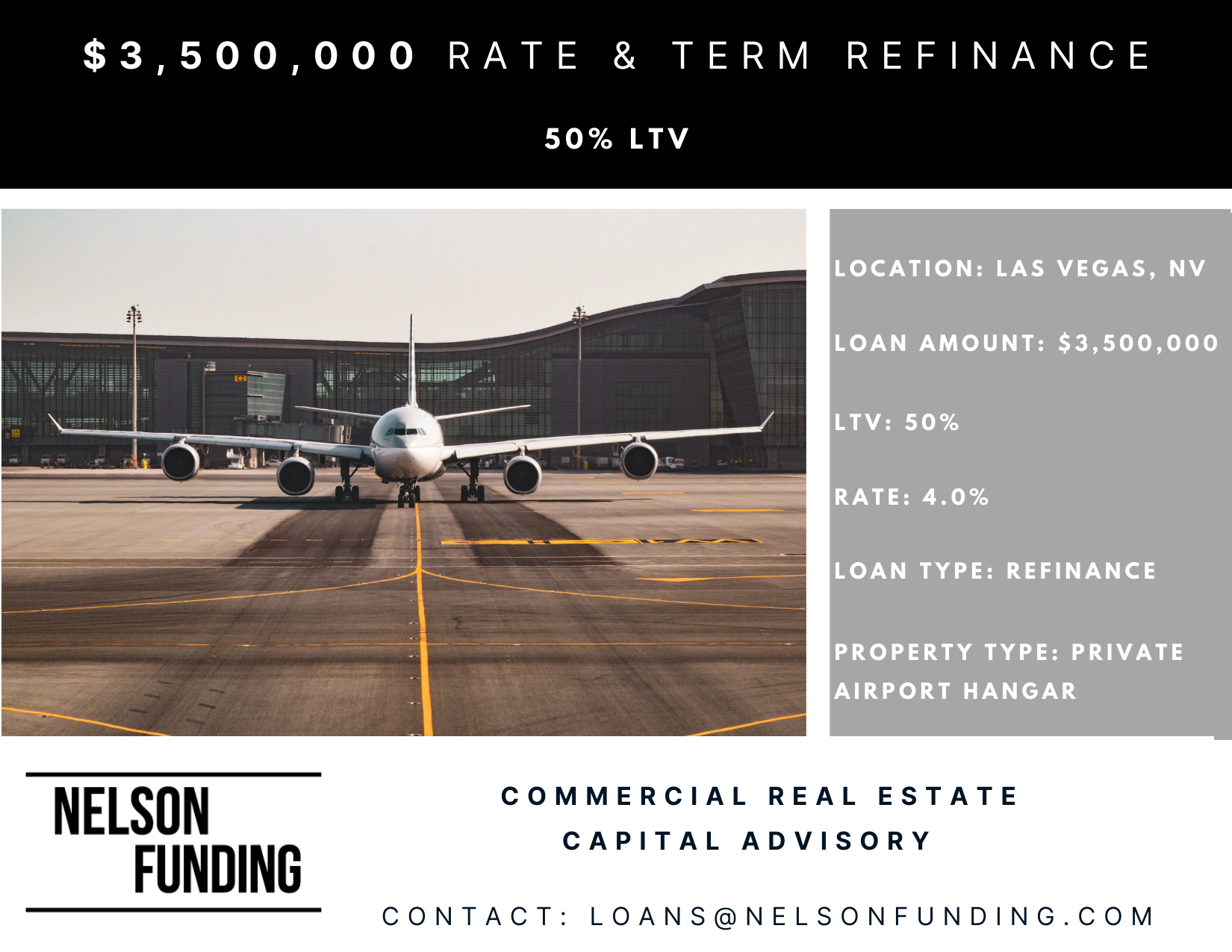 Closes $3,500,000 Refinance in Las Vegas, NV