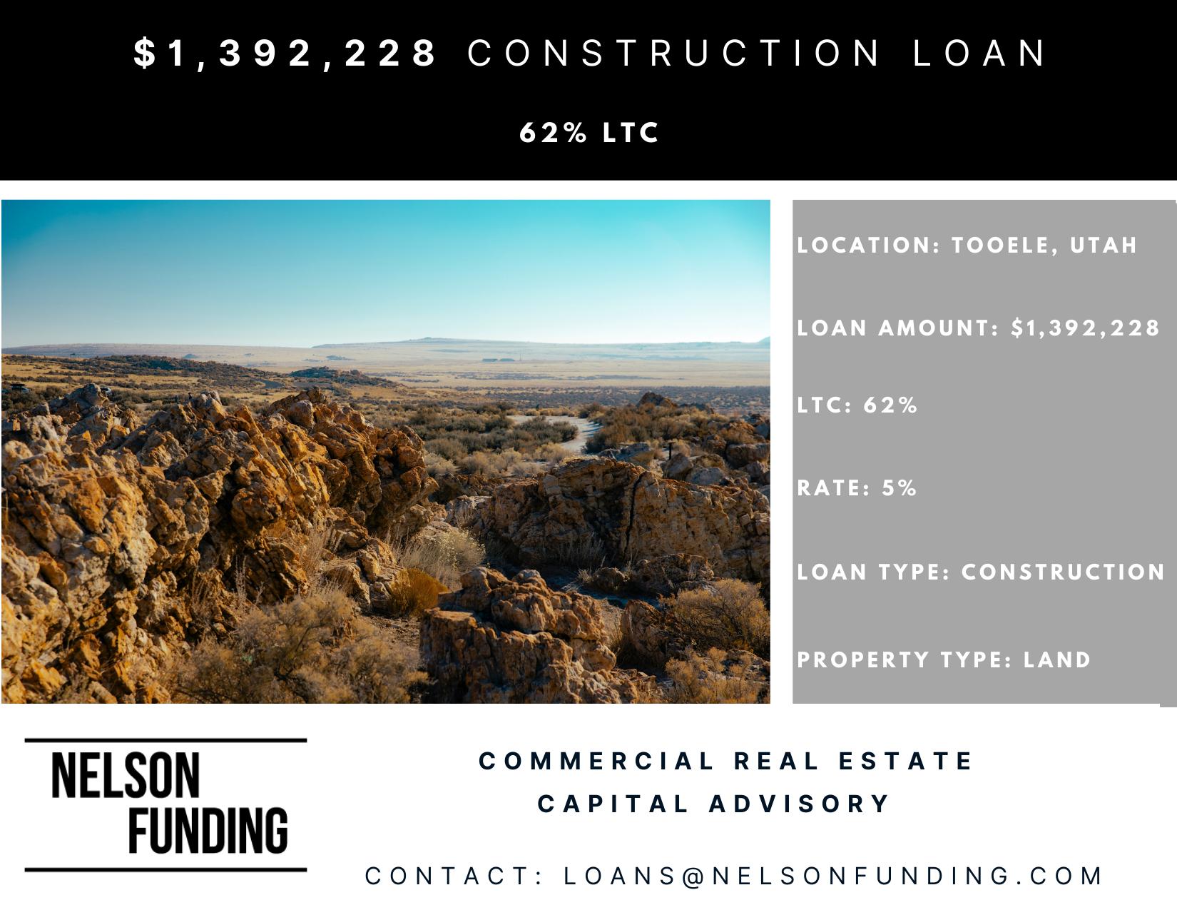 Tooele Land Development loan